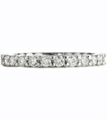 WHITE GOLD SHARED PRONG ETERNITY BAND