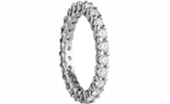 14K WHITE GOLD SHARED PRONG AND ROUND DIAMOND ETERNITY BAND