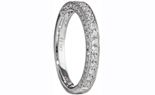 14K WHITE GOLD MILLEGRAIN AND ROUND BEAD SET DIAMOND BAND