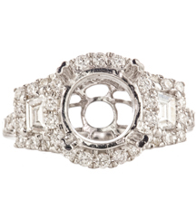 WHITE GOLD 3-STONE DIAMOND ENGAGEMENT RING