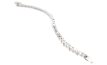 14K WHITE GOLD ROUND DIAMOND TENNIS BRACELET AT 3.00CTTW
