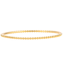 14K YELLOW GOLD ROUND BEADED BANGLE