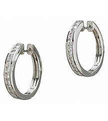 14KWG .74TW ROUND DIAMOND HOOP EARRINGS