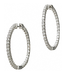 14KWG IN/OUT 2.00TW ROUND DIAMOND HOOP EARRINGS