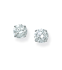 14K WHITE GOLD 1.00CTTW ROUND DIAMOND SOLITAIRE EARRINGS