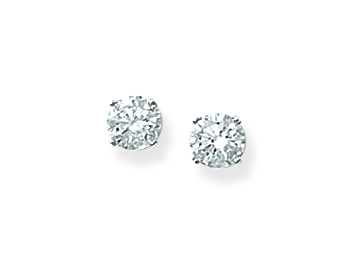 14K WHITE GOLD .75CTTW ROUND DIAMOND SOLITAIRE EARRINGS