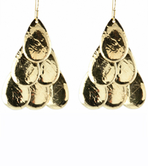 YELLOW GOLD PLATE DROP EARRINGS