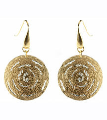 YELLOW GOLD PLATE AND WHITE GOLD PLATE EARRINGS
