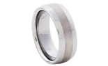 GENTLEMAN'S 8MM BRUSHED CENTER AND POLISHED EDGE TUNGSTEN BAND