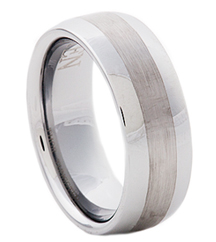 8MM TUNGSTEN BRUSHED GENTS BAND