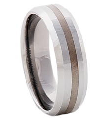 7MM BEVEL EDGE TUNGSTEN BAND
