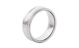 GENTLEMAN'S 8MM POLISHED CONCAVE TUNGSTEN BAND