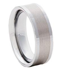 8MM BRUSH CENTER TUNGSTEN BAND