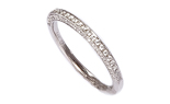 14K WHITE GOLD MILLEGRAIN AND PAVE DIAMOND BAND