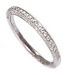 .25TW 3SIDED PAVE DIAMOND BAND