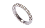 18K WHITE GOLD SHARED PRONG AND ROUND DIAMOND BAND