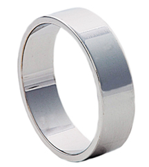6MM WHITE GOLD FLAT BAND