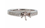 14K WHITE GOLD 3-SIDED CHANNEL ROUND SEMI MOUNTING