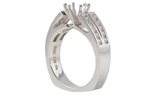 14K WHITE GOLD CHANNEL SET SPLIT SHANK DIAMOND SEMI MOUNTING