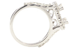 14K WHITE GOLD SHARED PRONG DIAMOND SEMI MOUNTING