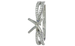 14K WHITE GOLD 4-PRONG ROUND DIAMOND SPLIT SHANK CATHEDRAL SEMI-MOUNTING