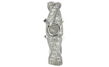 18K WHITE GOLD MILLEGRAIN BRAIDED PAVE DIAMOND SEMI MOUNTING