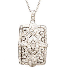 .50CTTW VINTAGE PAVE DIAMOND LOCKET