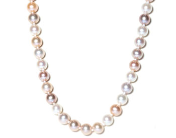 MULTI COLOR FRESH WATER PEARL STRAND NECKLACE
