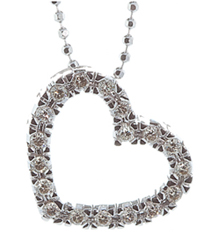 OPEN HEART PAVE DIAMOND PENDANT
