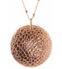 ROSE GOLD PLATE ROUND MEDALLION