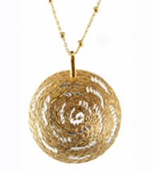 YELLOW GOLD PLATE AND WHITE GOLD PLATE PENDANT