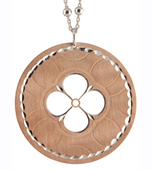 ROSE GOLD PLATED AND STERLING SILVER PENDANT