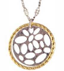 STERLING SILVER AND YELLOW GOLD PLATED PENDANT