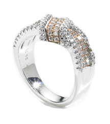 SIMON G ROSE AND WHITE GOLD DIAMOND RING