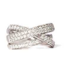 1.00TW PAVE DIAMOND CROSSOVER BAND