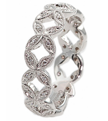 X DESIGN DIAMOND FASHION STACK BAND