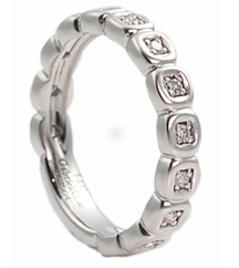 DIAMOND BEZEL SET STACK RING