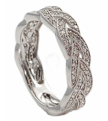 BRAIDED DIAMOND FASHION STACK BAND