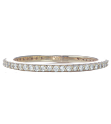 14K ROSE GOLD PAVE DIAMOND BAND