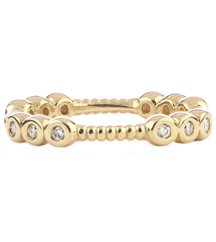 14K YELLOW GOLD ROPE DESIGN STACK RING