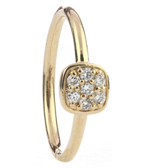 14K YELLOW GOLD POLISHED STACK RING