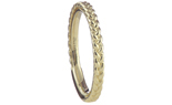 14K YELLOW GOLD BRAIDED STACK BAND