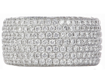 18K WHITE GOLD FLAT PAVE DIAMOND BAND