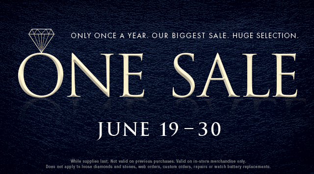 One Sale: June 19-30.